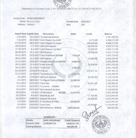 A closer examination of this document can easily confirm it as a fake. However it is not possible to verify them easily and none of the institution seem to be doing that considering the actual document showing the fund is in an acceptable bank and genuine.